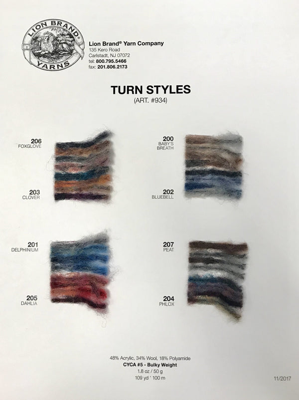 Turnstyles: Color Card