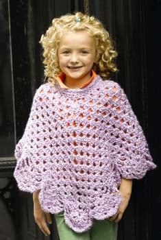 Martha Stewart Coming Home Poncho Kids Size Pattern (Crochet)