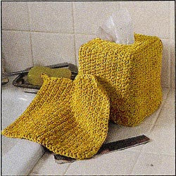 Crochet Tissue Box Holder and Washcloth Pattern (Crochet)