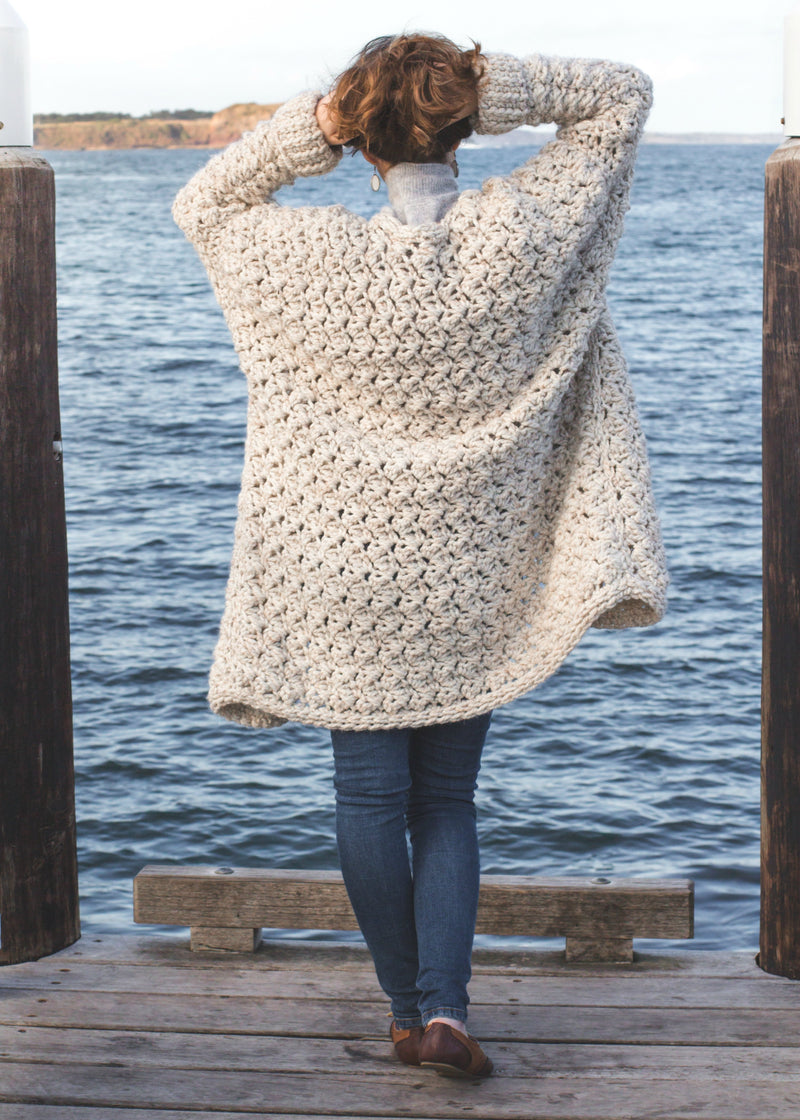 Crochet Kit - Coastal Fog Cardigan