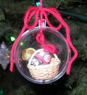 'Hooked on Crochet' Holiday Ornament