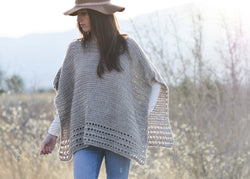 Crochet Kit - Light Alpaca Poncho Pattern