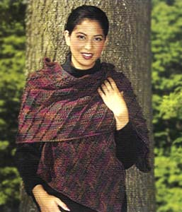 1-2-3 Easy Diagonal Shawl/Scarf (Crochet)