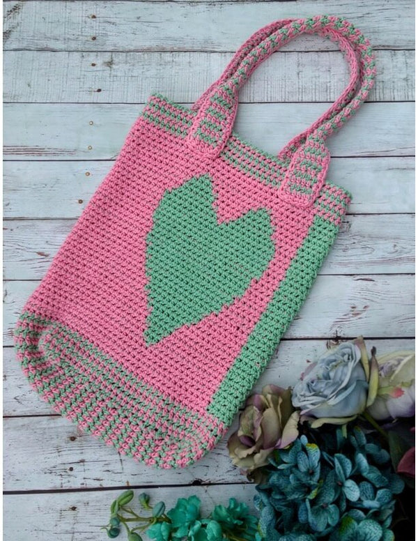 Carry Your Heart Tote Bag (Crochet)