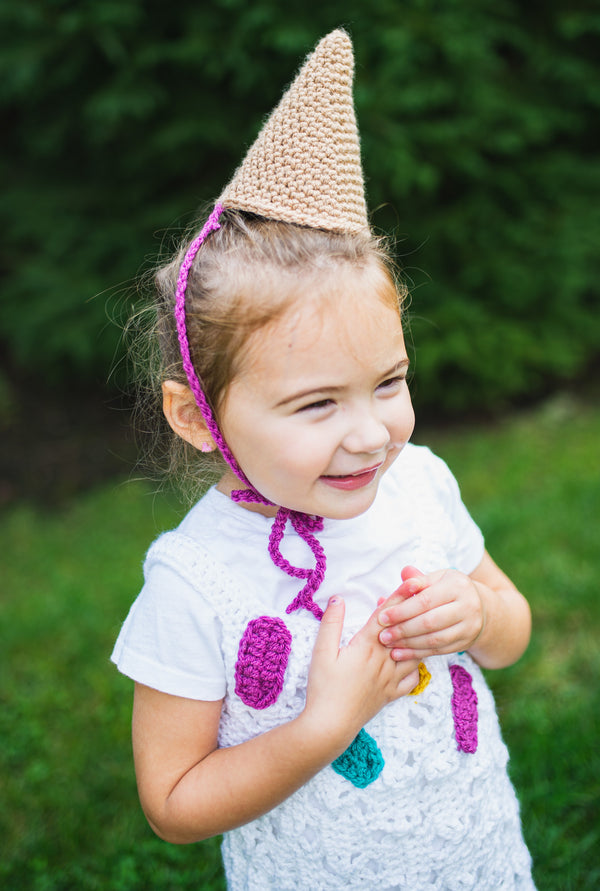 Ice Cream Cone Costume (Crochet)