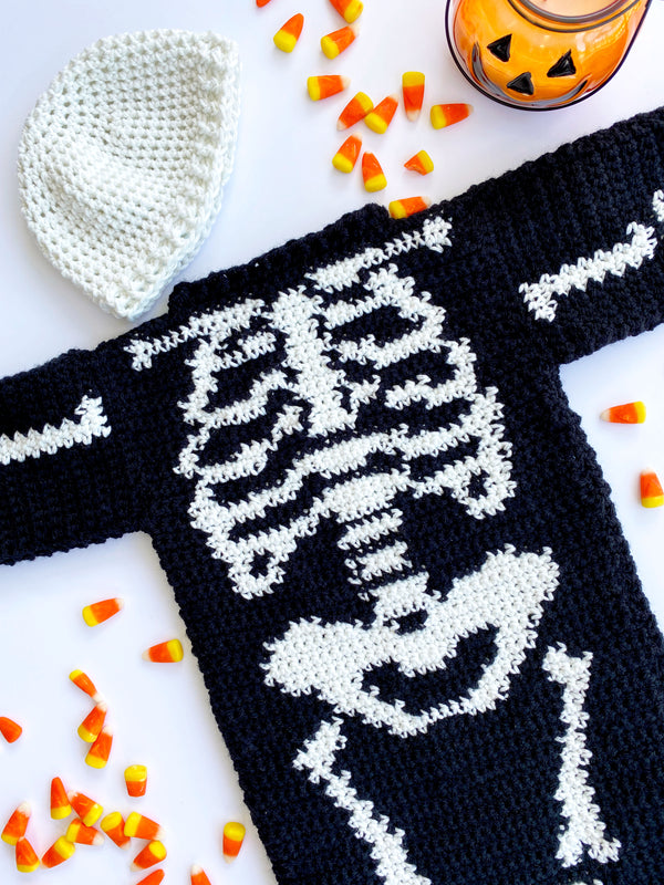 Skeleton Baby Costume (Crochet)