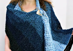 Crochet Kit - Denim Ombre Wrap