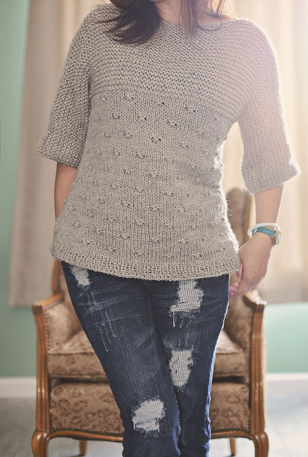 Knit Kit - Knotted Pullover