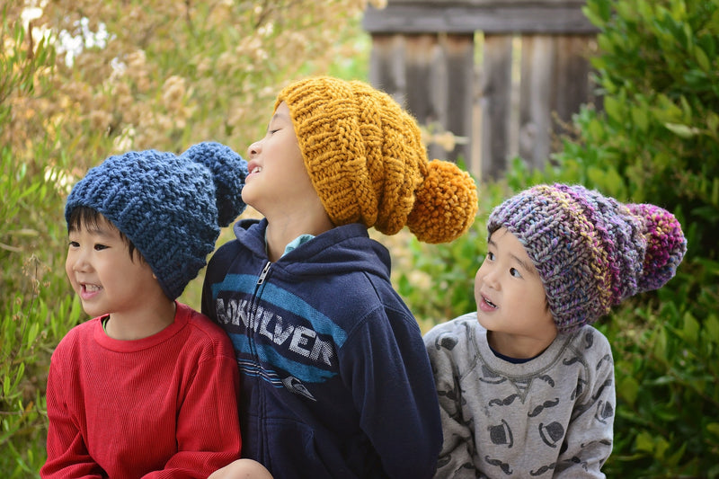 Knit Kit - Ribbed Slouch Beanie