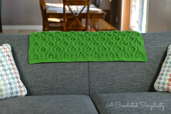 Crochet Kit - The Hourglass Cabled Afghan