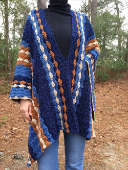Crochet Kit - Blue Jean Baby Poncho