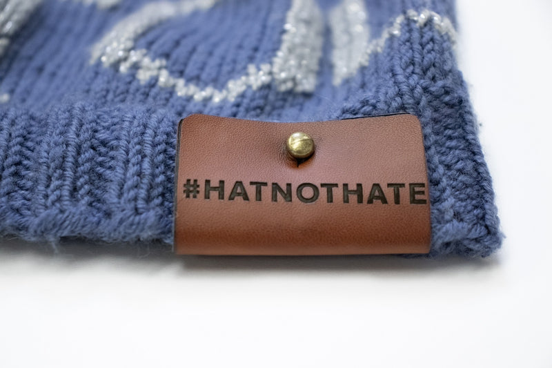 #HatNotHate Faux Leather Tag