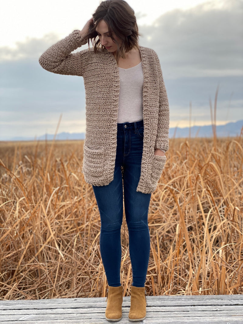 Crochet Kit - Coffee Shop Cardigan