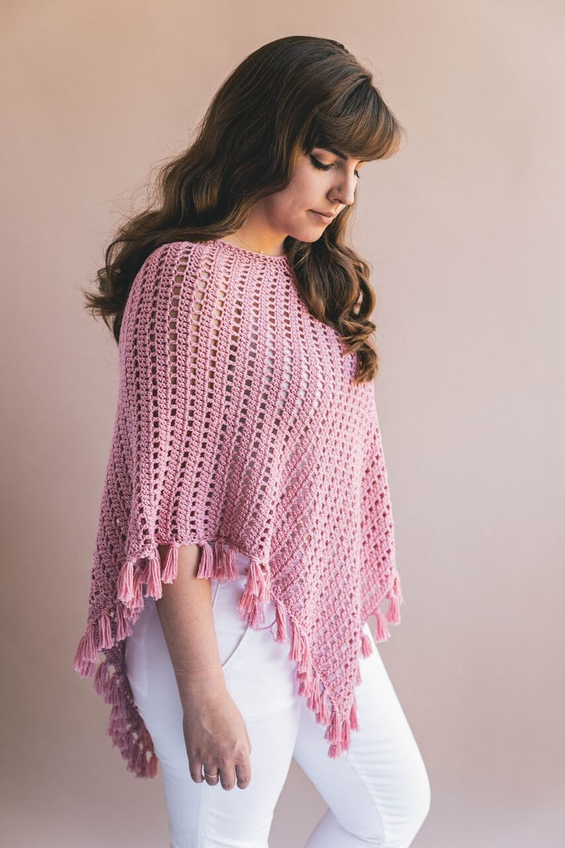 Crochet Kit - Ava Fringed Poncho