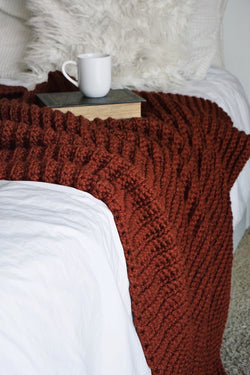 Crochet Kit - Fireside Throw Blanket