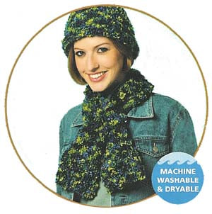 Hat and Wrapover Scarf Pattern (Knit)