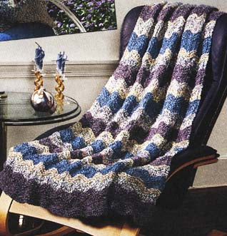 Catch the Wave Afghan Pattern (Knit)
