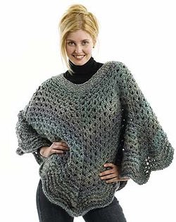 Martha Stewart 'Coming Home' Poncho: Plus Size (Knit)