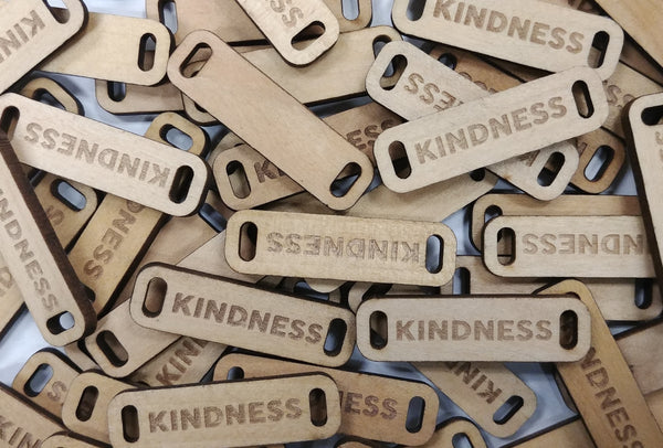 KINDNESS Wooden Tag