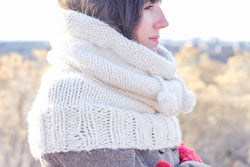 "Knit Kit - ""The Huggle"" Hooded Cowl"