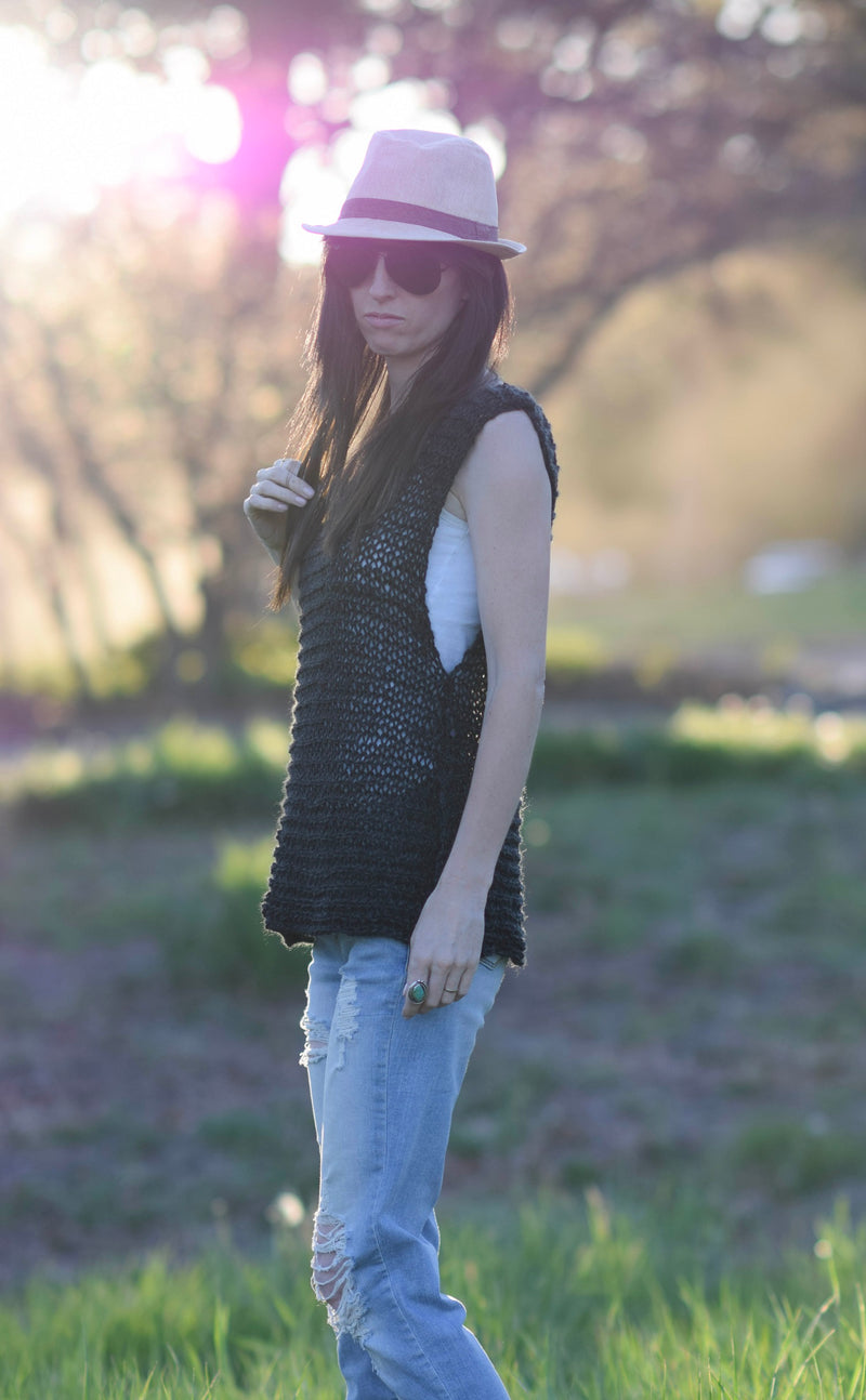 Knit Kit - Little Black Tank Top