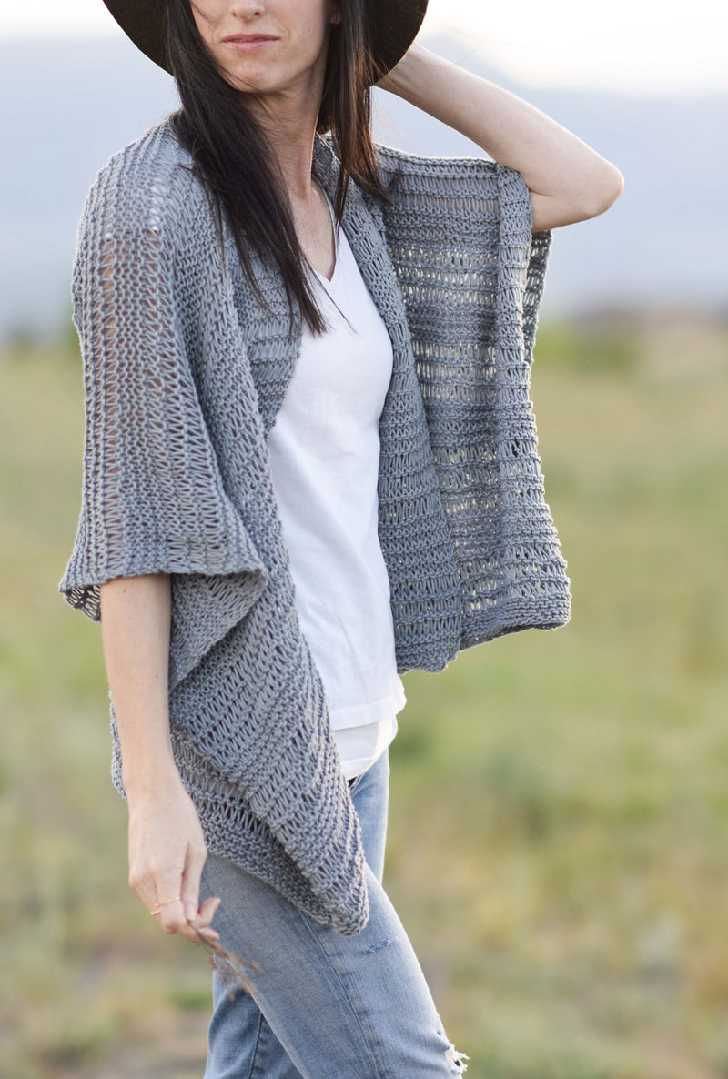 Knit Kit - Drop Stitch Cotton Kimono