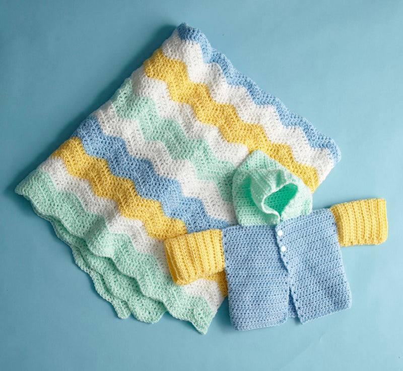 Four Color Baby Set Pattern (Crochet)