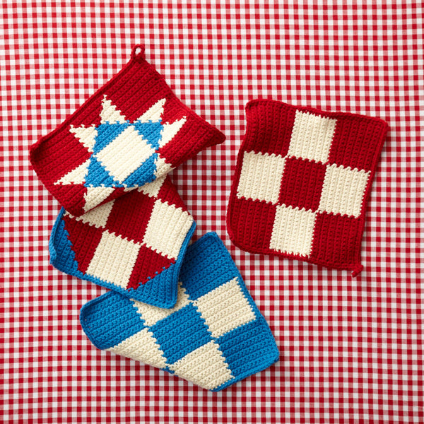4th Of July Potholders (Crochet)