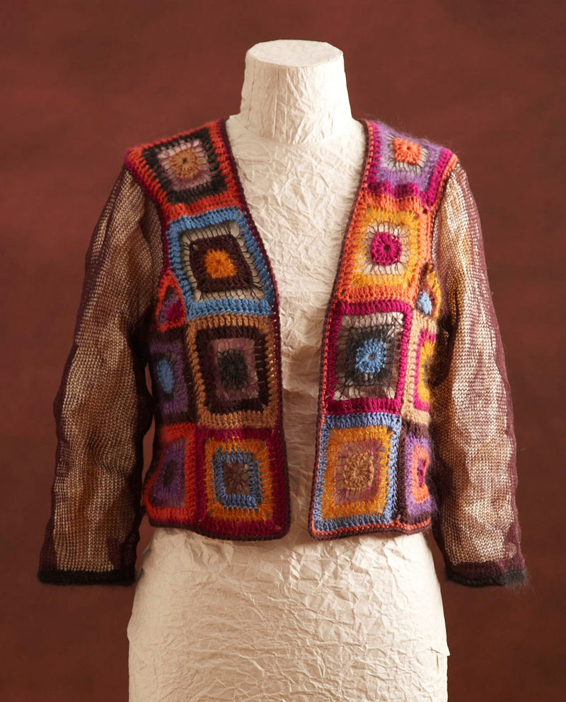 Knit And Crochet Square Motif Cardi