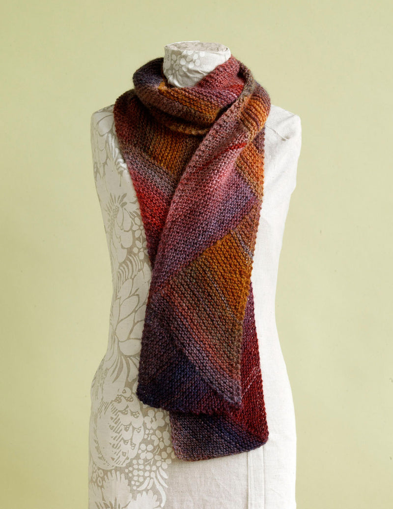 Directional Colors Scarf Pattern (Knit)