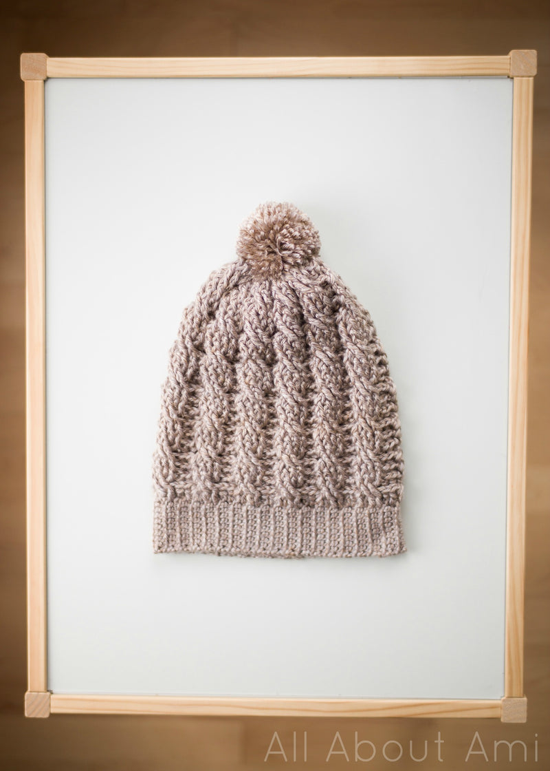 Crochet Kit - Cabled Slouchy Beanie