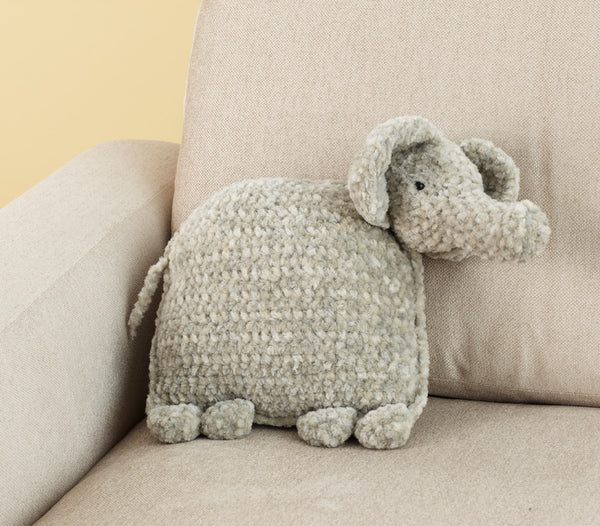 Ellie The Elephant Pillow Pattern (Crochet)