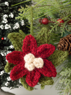Poinsettia Ornament (Crochet)