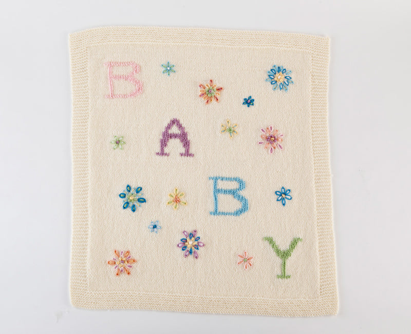 Embroidered Baby Blanket Pattern (Knit)
