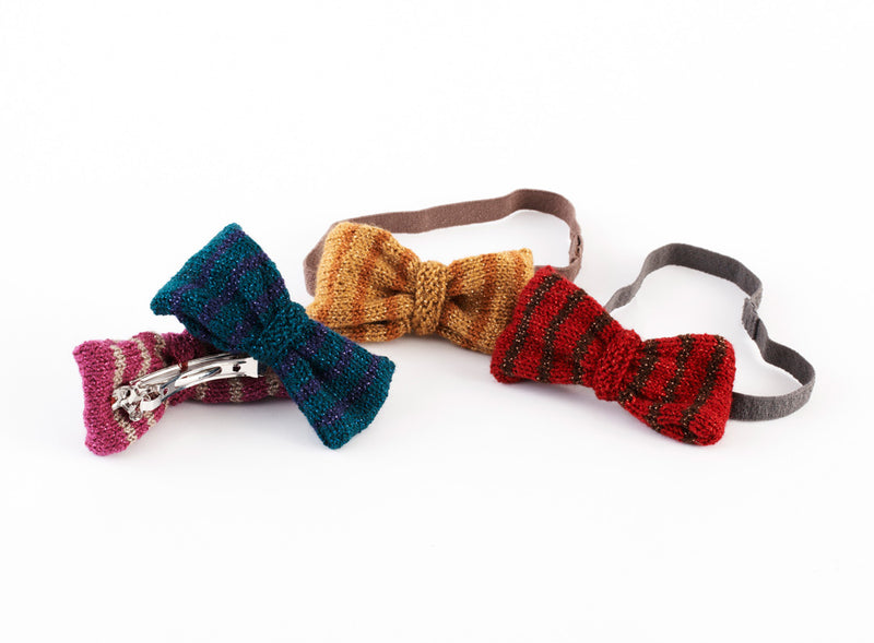 Bows For Headbands And Barrettes Pattern (Knit)