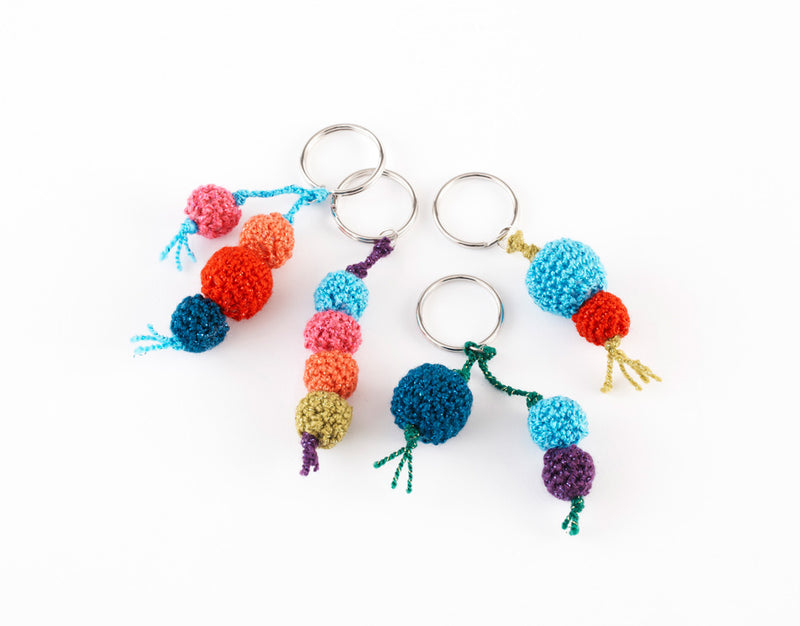 Key Ring Bobbles Pattern (Crochet)