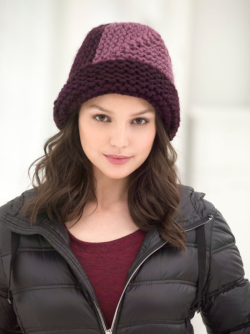 Mitered Hat (Knit)