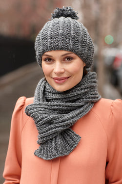 Quite The Pair Hat And Scarf Set (Knit)