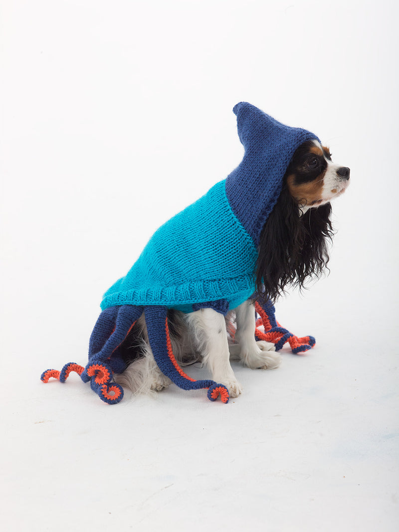Octopus Dog Costume (Knit)