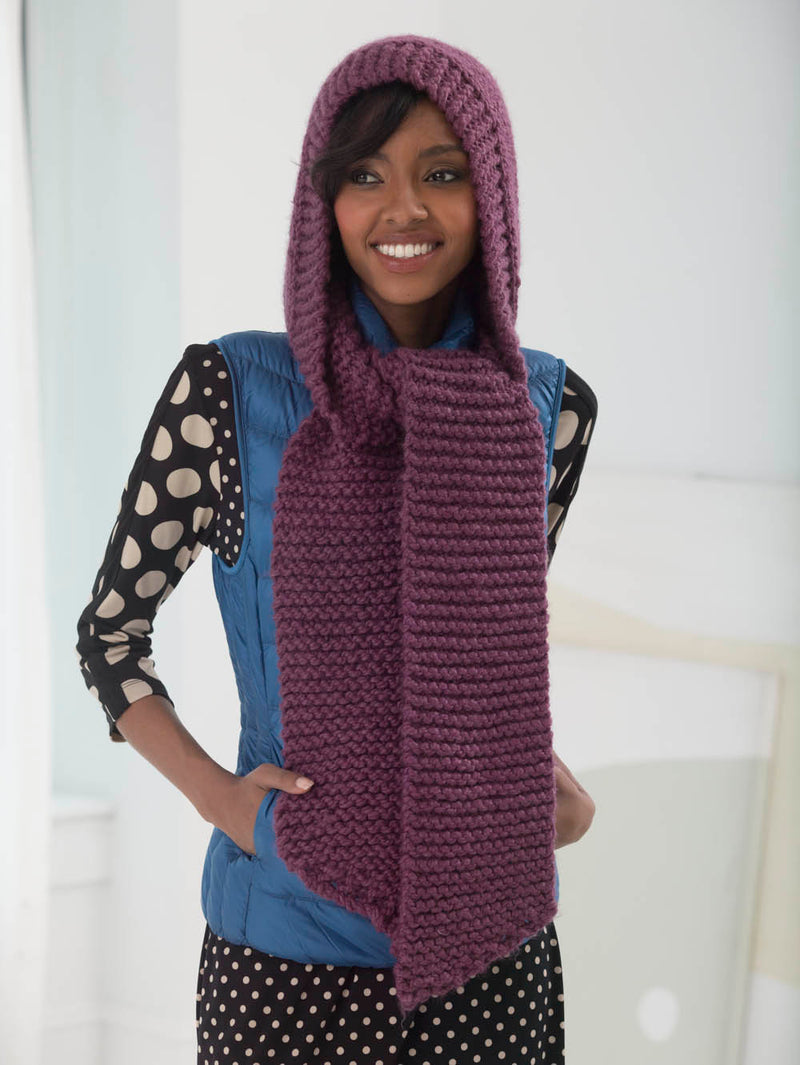 Simple Hooded Cowl (Knit)