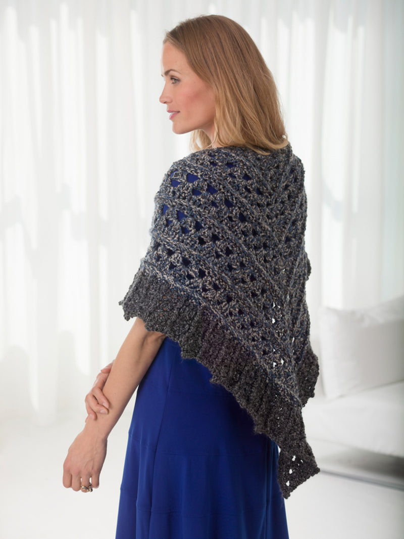 Two-Tone Shawl (Crochet)