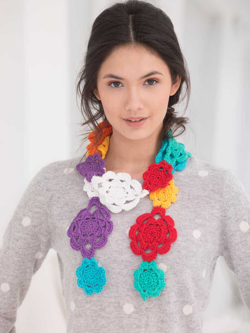 Flower Chain Scarf (Crochet)