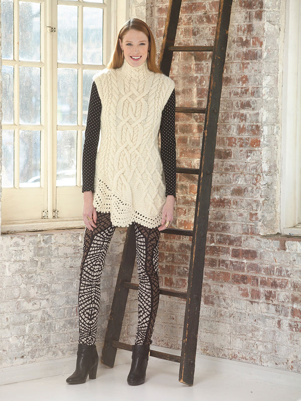 Asymmetric Cable Tunic (Knit)