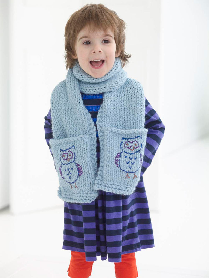 Whoo's In Your Pocket Scarf (Knit)