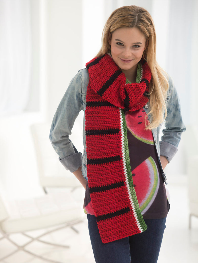Watermelon Scarf (Crochet)