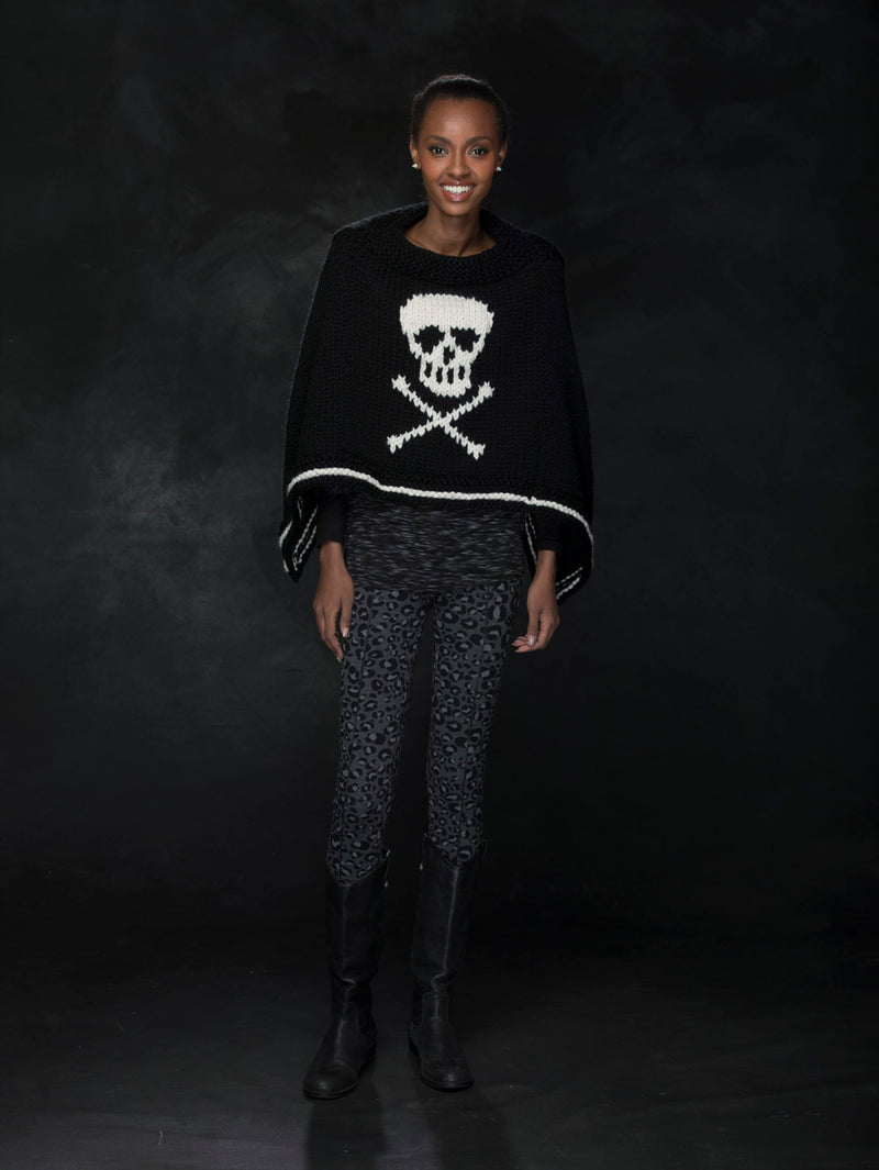 Jolly Roger Poncho (Knit)