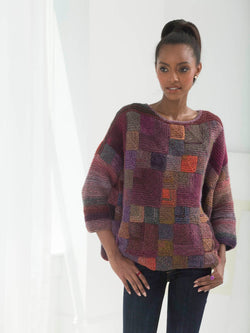 Painterly Mitered Pullover (Knit)