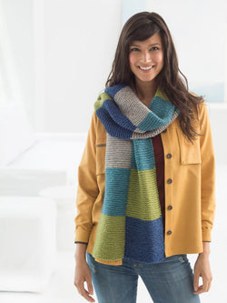 Loom Knit Colorblock Scarf
