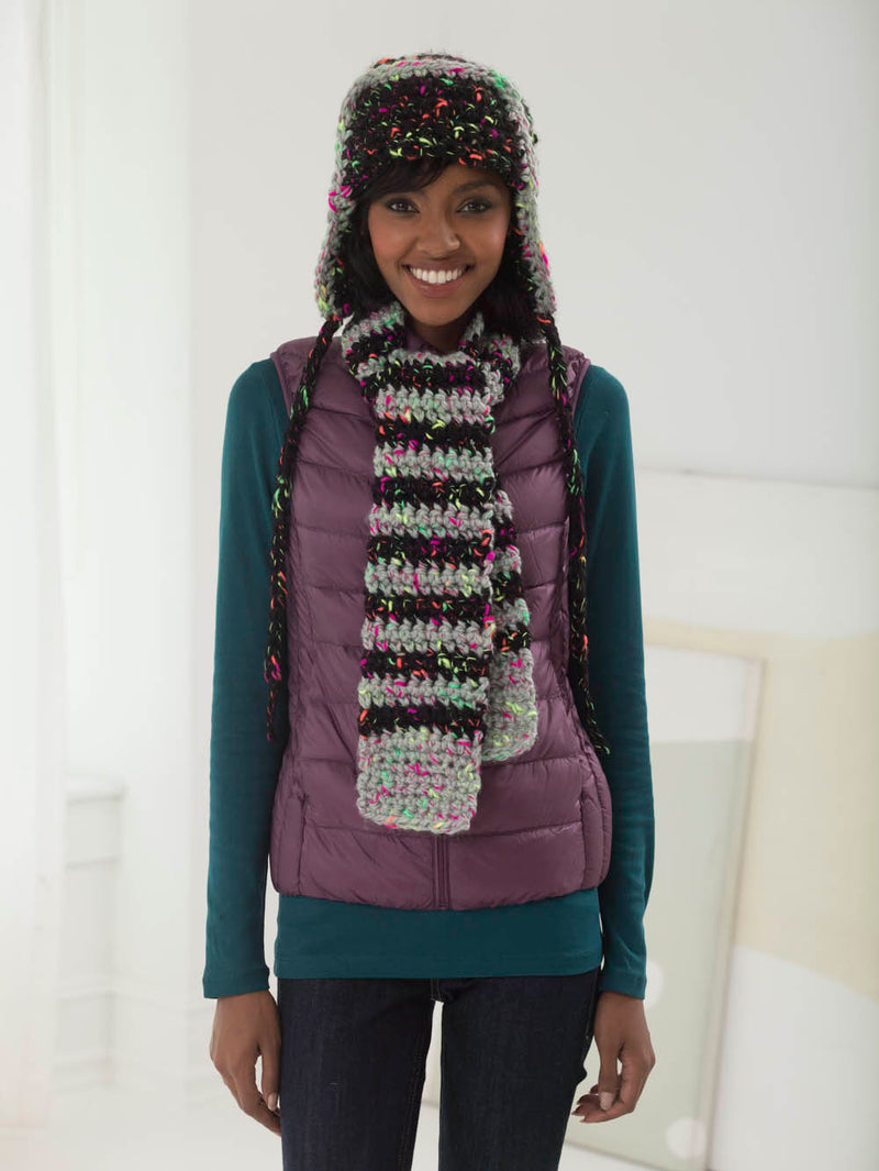 Concrete Jungle Hat & Scarf (Crochet)