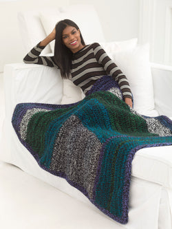 Furrowed Grid Afghan (Crochet)